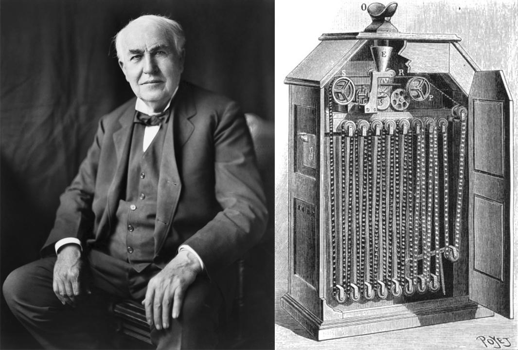 エジソンとキネトスコープ