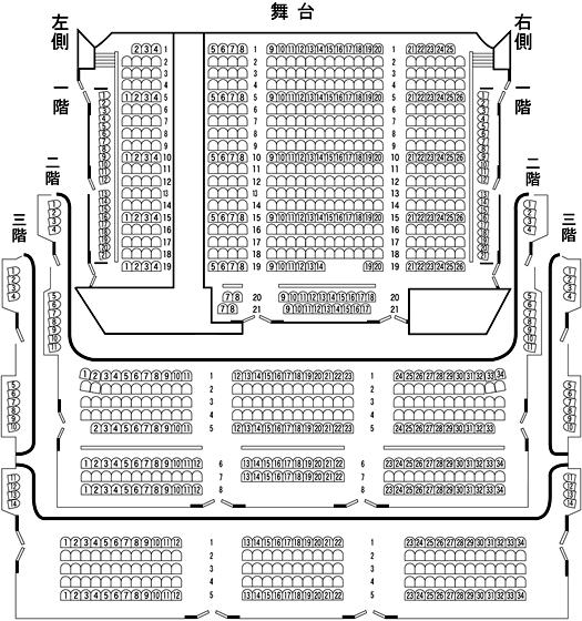 大阪松竹座の客席表